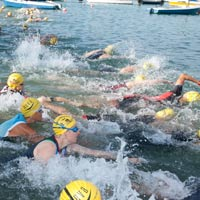 Foto Start Triathlon Wörthsee 2018