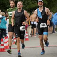 Foto Zieleinlauf Triathlon Wörthsee 2019
