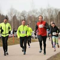 Bild Zieleinlauf Ismaninger Winterlauf 2019